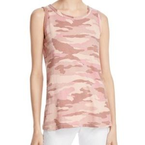 Current Elliott Pink Camo Muscle Cotton Tank Top